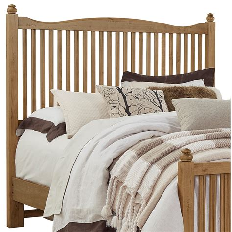 wooden twin headboard vaughan bassett american maple solid wood twin slat