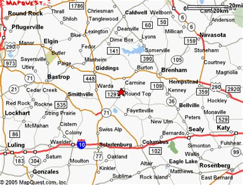 where is top texas on map directions