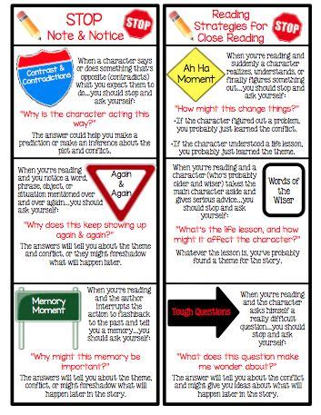 printable nonfiction bookmarks 17 best images about stop notice and note on pinterest