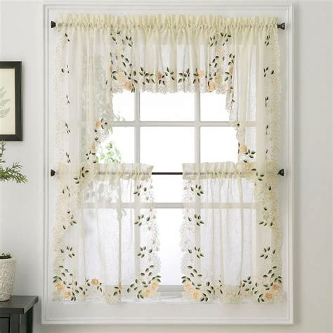Cafe Style Kitchen Curtains Cafe Curtains Kitchen For Pretty Home Are Fabulous Buy For The Money