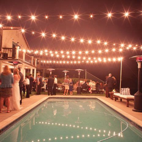 how to string lights across backyard backyard string lights and flowers home design elements