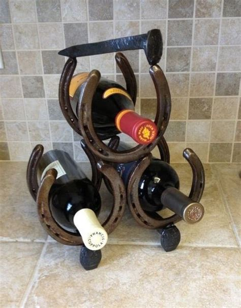 Wine Racks Made Out Of Horseshoes by 25 Best Ideas About Horseshoe Wine Rack On