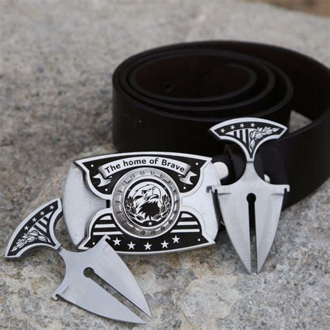 buckle knives custom made buckle with 2 daggers stainless steel buckle