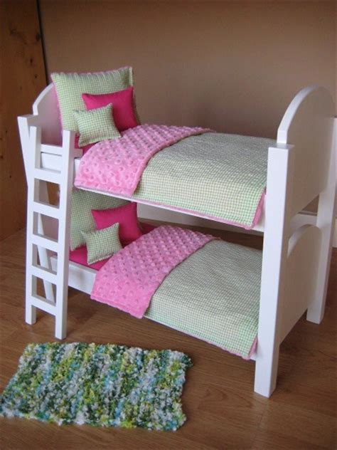 american girl doll bunk bed with ladder and 10 piece bedding