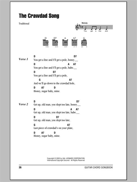 Crawdad Song Guitar Chords