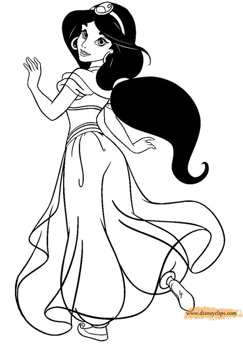 coloring pages for princess jasmine collections