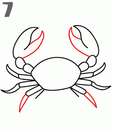 crab claw template how to draw a crab step by step
