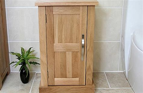oak bathroom furniture vanity unit storage cabinet