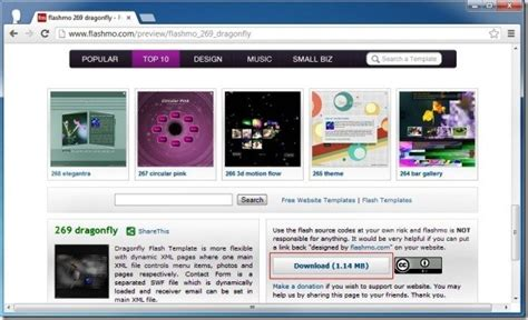 Download Free Flash Templates At Flashmo Free Flash Website Templates With Source Files