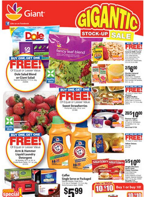 printable coupons for giant grocery store giant ad 1 18 2013 giant coupon matchups family finds fun