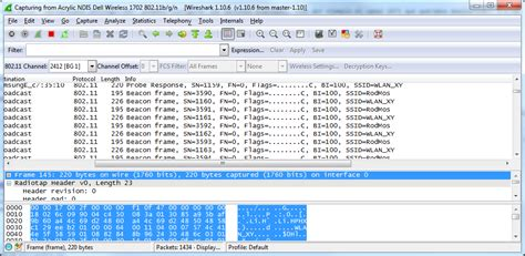 wireshark tutorial point wireless capturing and sending 802 11 frames packets