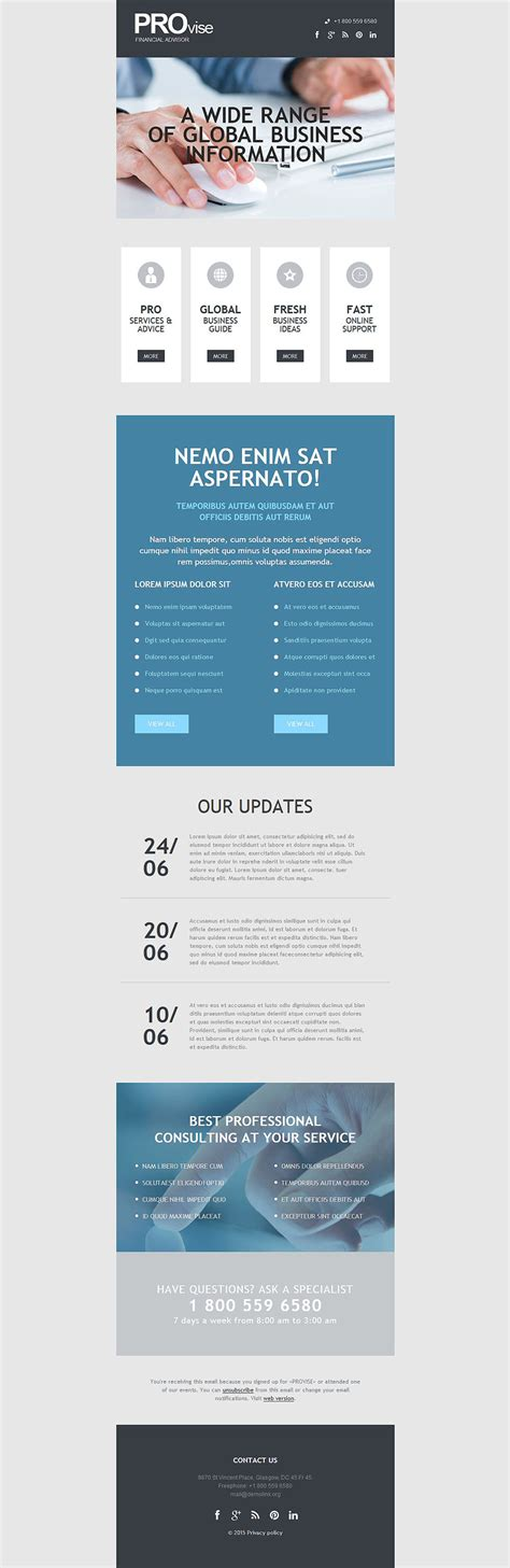 responsive newsletter templates business responsive newsletter template 53701