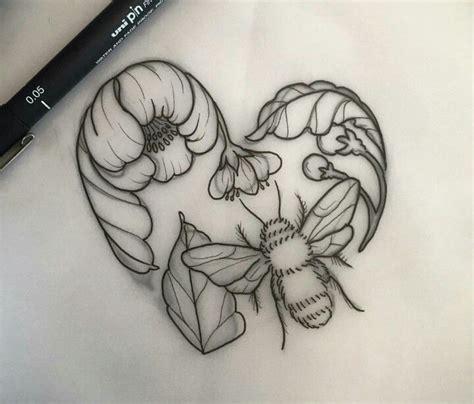 honeybee tattoo honeybee doodling animals tatting
