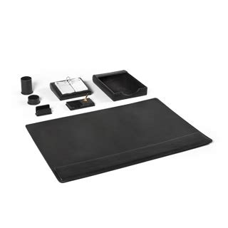 Black Leather Desk Accessories Black Leather Desk Accessories Set Arenson Office Furnishings