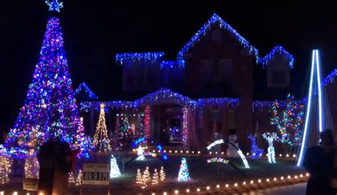 christmas lights display in arkansas neighborhood comes to