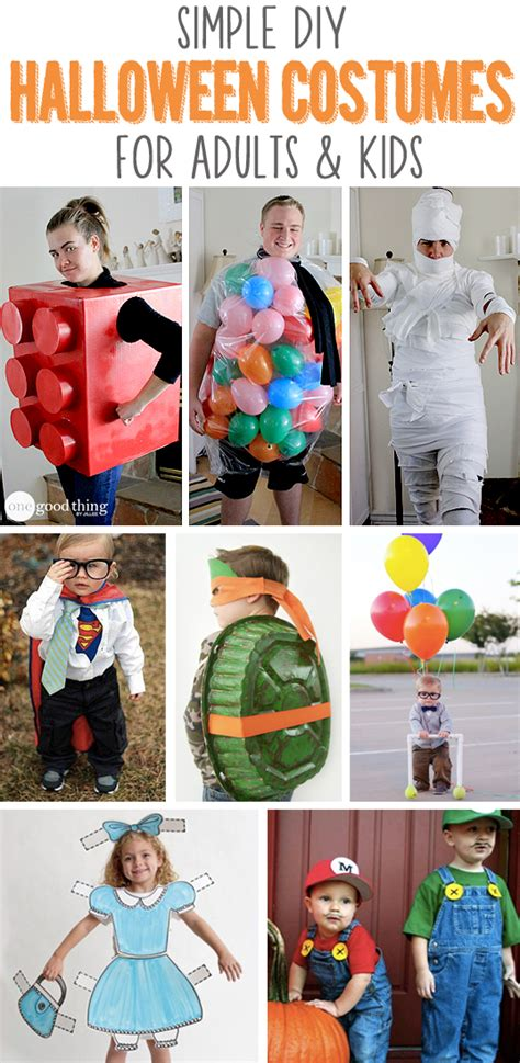 simple diy halloween costumes pictures   images