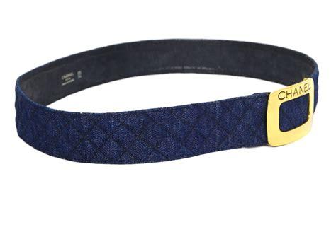 Denim Belt chanel blue quilted denim belt sz 85 at 1stdibs