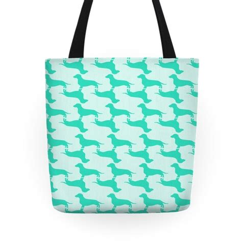 tote bag dog pattern wiener dog pattern tote bags grocery bags and canvas