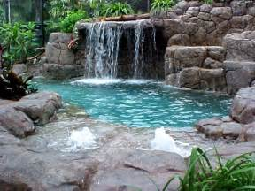 pool fountains and waterfalls home and garden artificial rocks around swimming pool