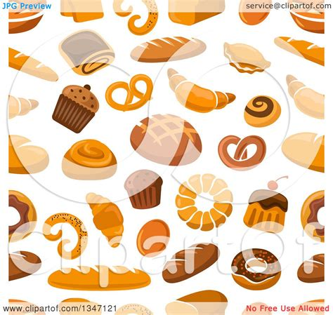 pattern goods clipart of a seamless background pattern of bread and