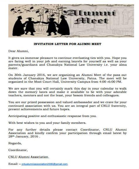 36 Invitation Letters Sle Templates Alumni Email Template