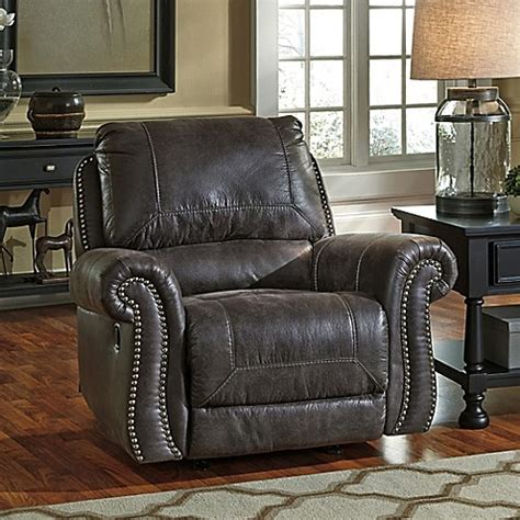 black faux leather rocker recliner buy flash furniture faux leather rocking recliner in black