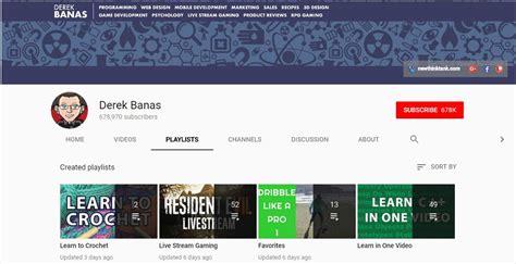 git tutorial derek banas 14 best youtube channels for web developer on air code