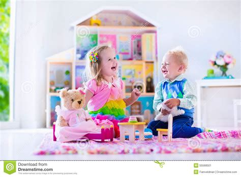 animal doll house kids playing with stuffed animals and doll house royalty