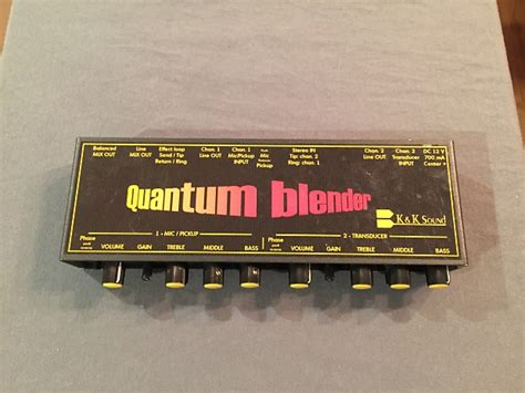 Blender Quantum k k sound quantum blender reverb
