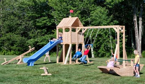 cheap backyard playsets cedarworks eco friendly outdoor playsets fit every space