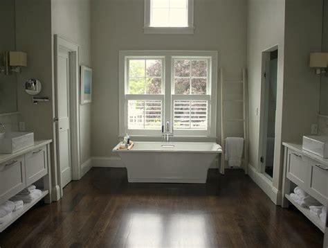tub under windows dressed in plantation shutters
