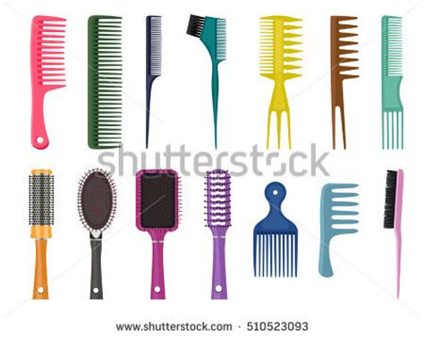 Types Of Hair Combs by Different Types Baggage Bags Cases Suitcases Stock Vector