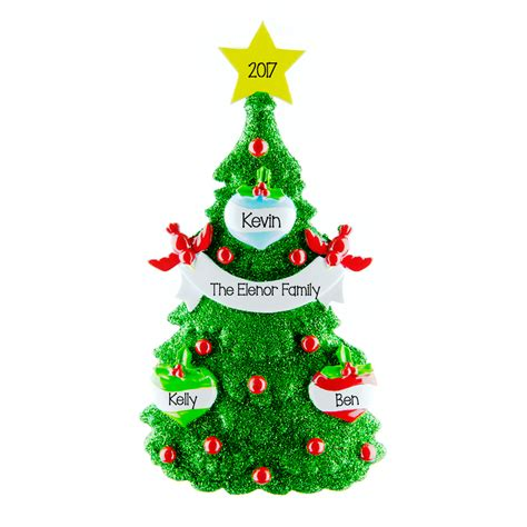green tree 3 personalised hanging christmas decoration 35
