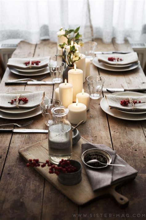 einfache weihnachtstisch dekorationen sistermag ausgabe 16 lesen tisch und tischdeko