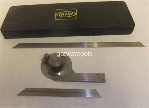 gm tools moore wright  bevel protractor