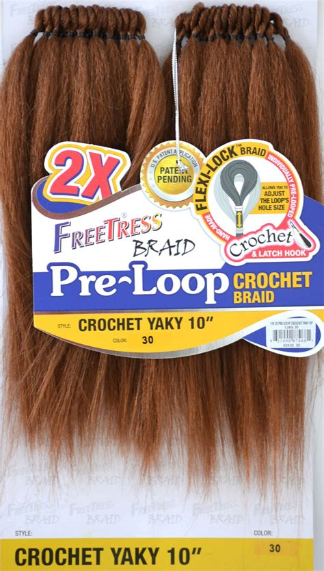 videos of how to do crochet with pre braided hair 2x pre loop crochet yaky 10 quot freetress synthetic braid
