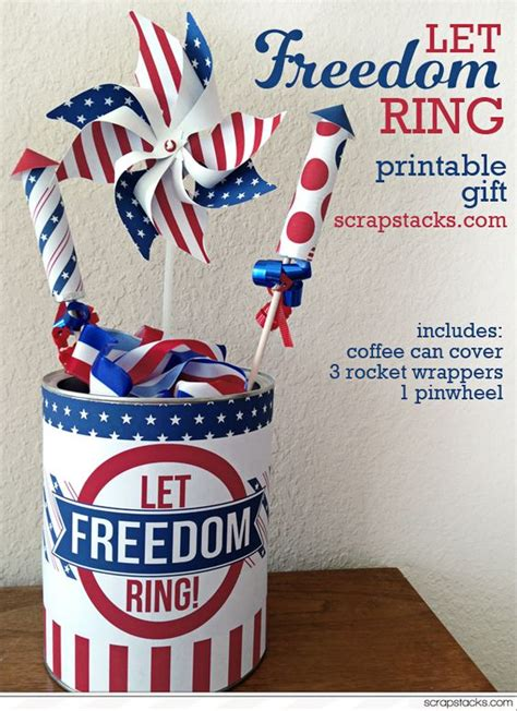 fourth day of gift 4th of july printable gift let freedom ring for