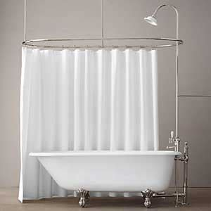 shower curtain rods for clawfoot tubs clawfoot tub shower rods