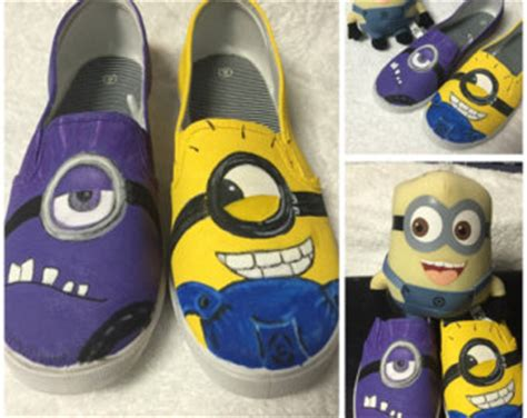 minion sneakers for adults popular items for minion shoes on etsy