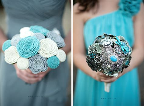 Fresh Wedding Bouquets by Non Fresh Wedding Flowers Bridesmaid Bouquets Onewed