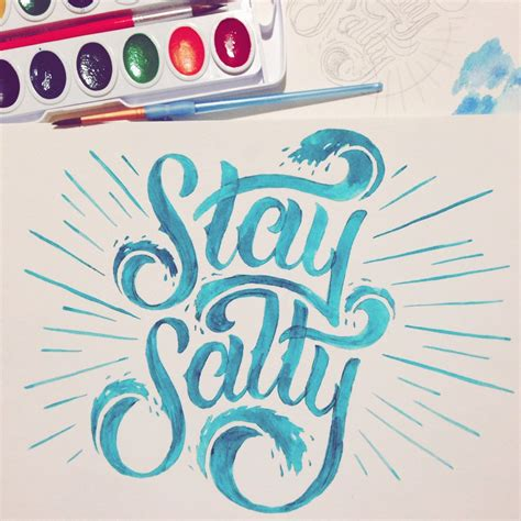 lettering for tattoos serialthriller trendgraphy stay salty by 1454