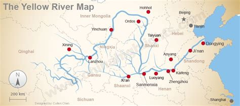 yellow river map the yellow river grand ancient culture and silty wonders