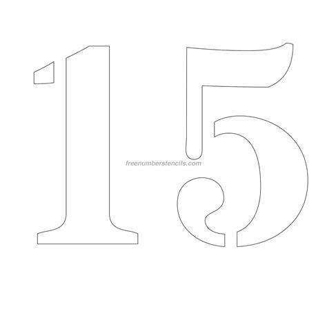 number stencil templates free 12 inch 15 number stencil freenumberstencils