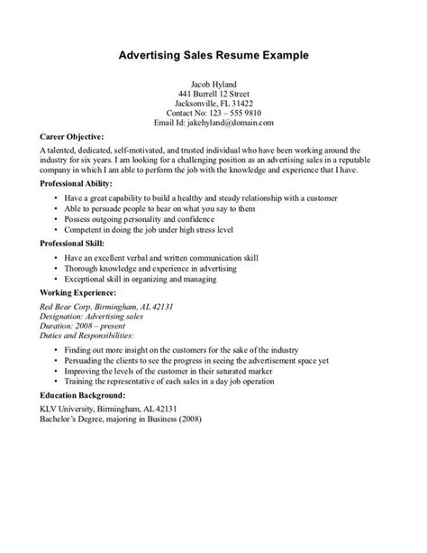 Objective Of Resume by Cv Objective Statement Exle Resumecvexle