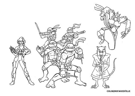 ninja turtles mikey coloring pages