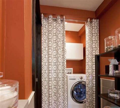 nascosta in bagno lavatrice in bagno nascosta da tende
