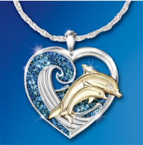 Mothers Day Poems: Diamond Dolphin Pendant: Exquisite and