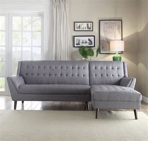 grey linen sectional sofa watonga sectional sofa 53850 in light gray linen fabric by