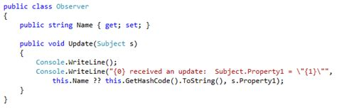 observer pattern gang of four codesharp c patterns and data observer pattern gang