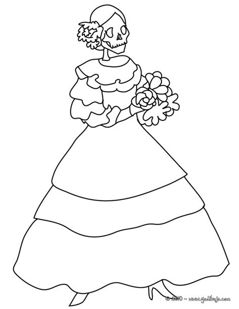 275 Best Spanish D 237 A De Los Muertos Images On Pinterest Day Of The Dead Altar Coloring Pages